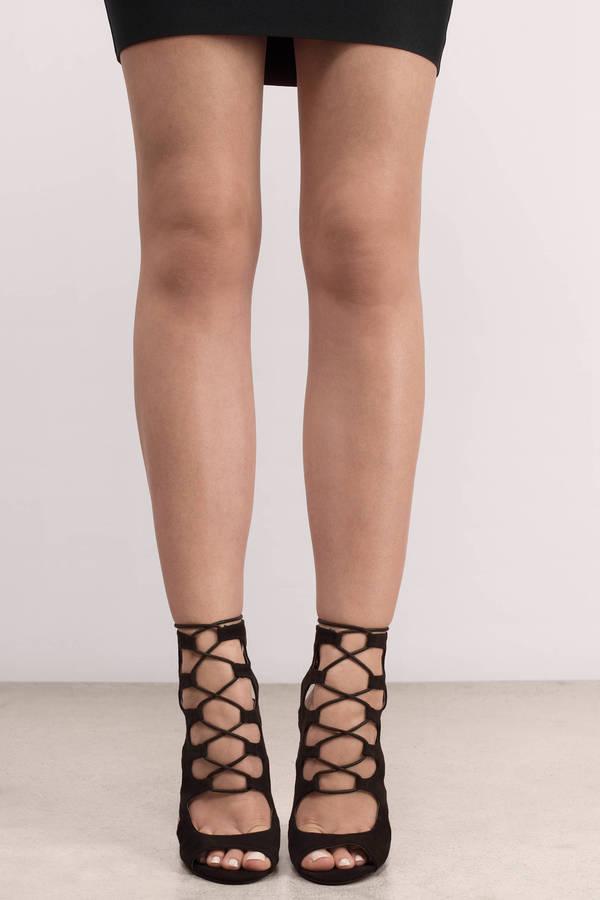 Jen Black Suede Heels Jen Black Suede Heels ...