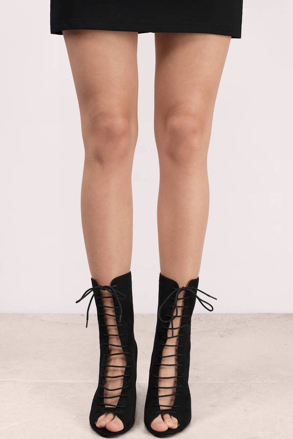 Lace Up Suede Ankle Boots - Suede Laceup Boots - Short Lace Up ...
