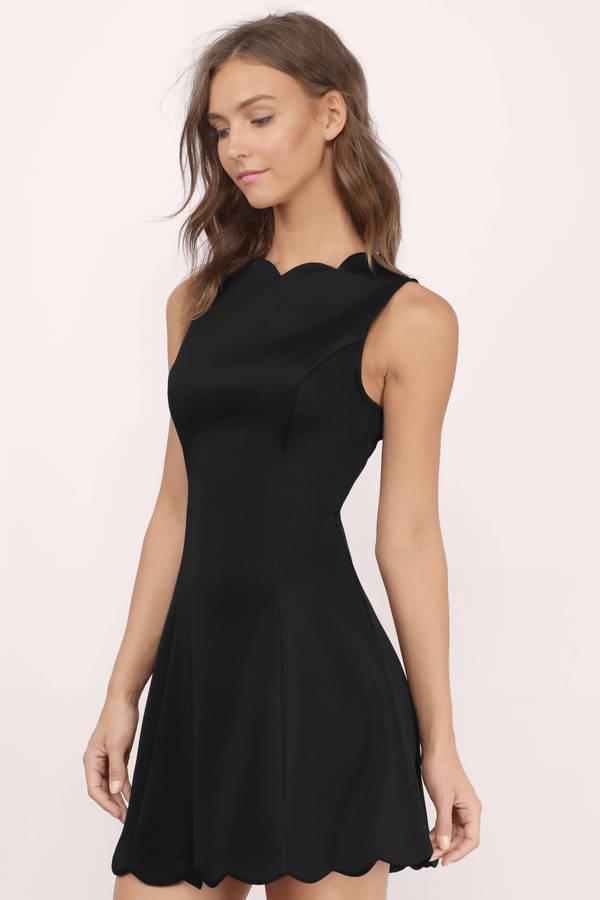 Cute Black Dress Sleeveless Dress Black Scuba Dress Day Dress