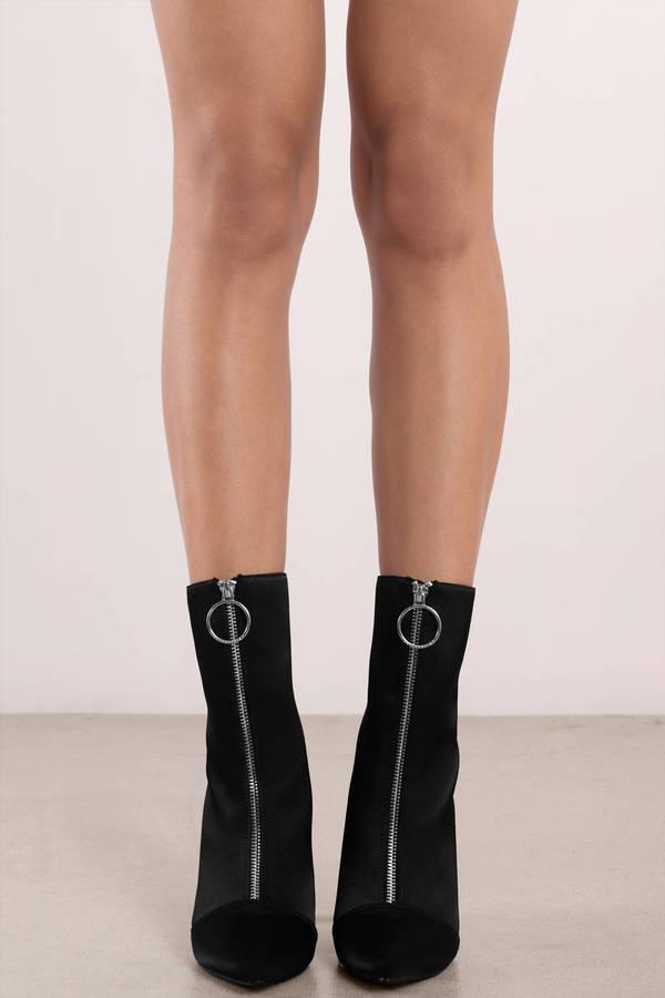 Black Boots - Zip Up Boots - Black Boot