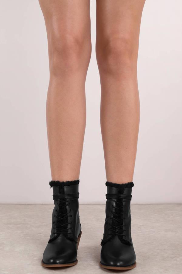 6a7107b2a37a4 ... Kelsi Dagger Kelsi Dagger Kingsdale Black Fur Lined Leather Boots ...