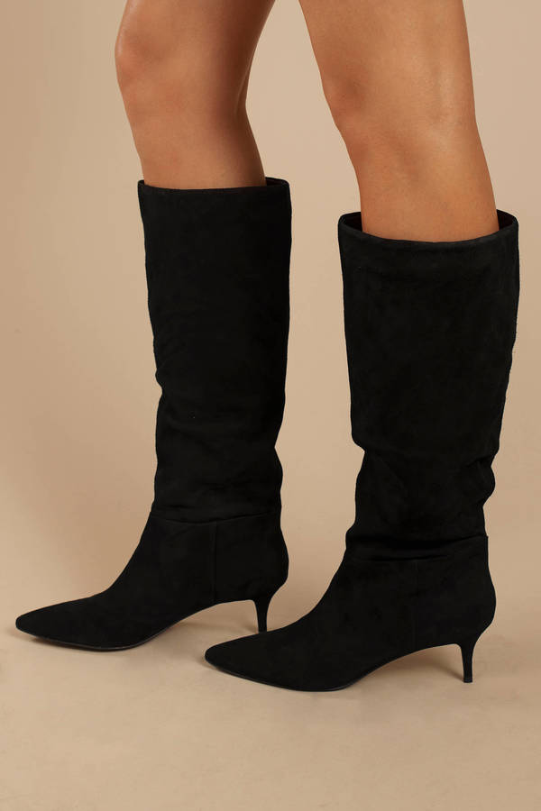 4b7f69c7799 Black Steve Madden Boots - High Heel Boots - Black Knee High Boots ...