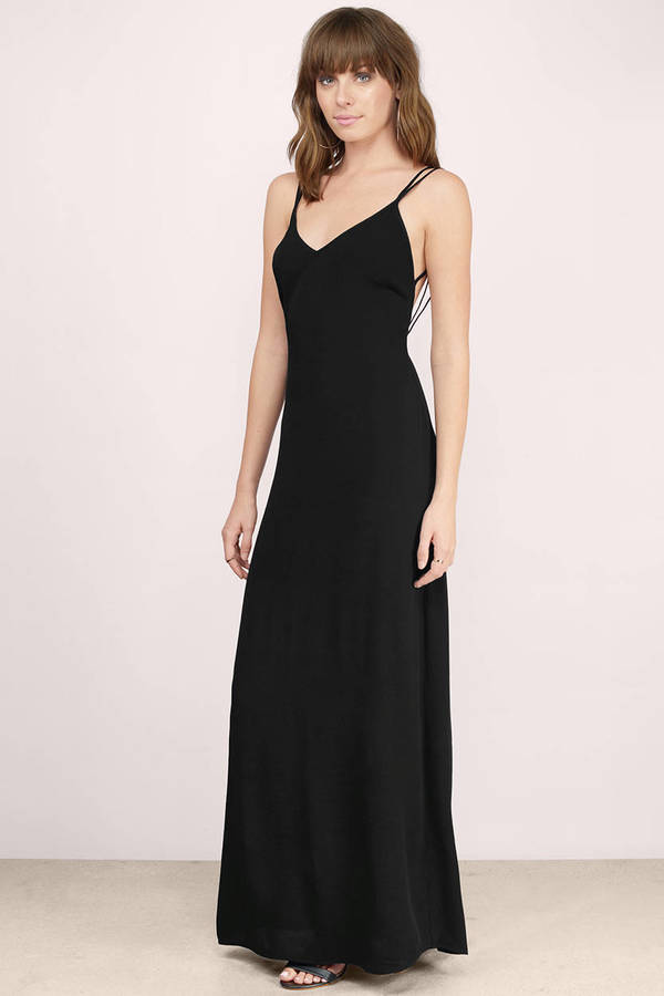 Sexy Black Maxi Dress Black Dress V Neck Dress Maxi Dress