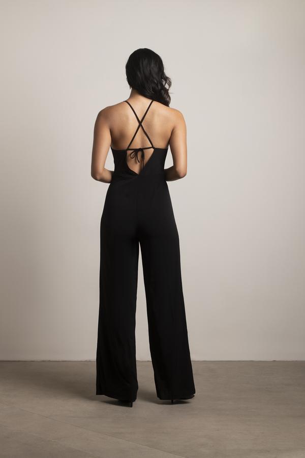 078a62c342a Black Jumpsuit - Wide Leg Jumpsuit - Black Sleeveless Jumpsuit - $35 ...