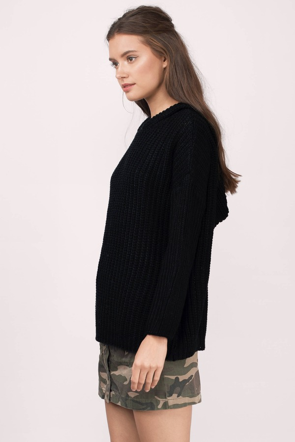 Black Sweater - Oversized Sweater - Black Long Sweater - $16 | Tobi US
