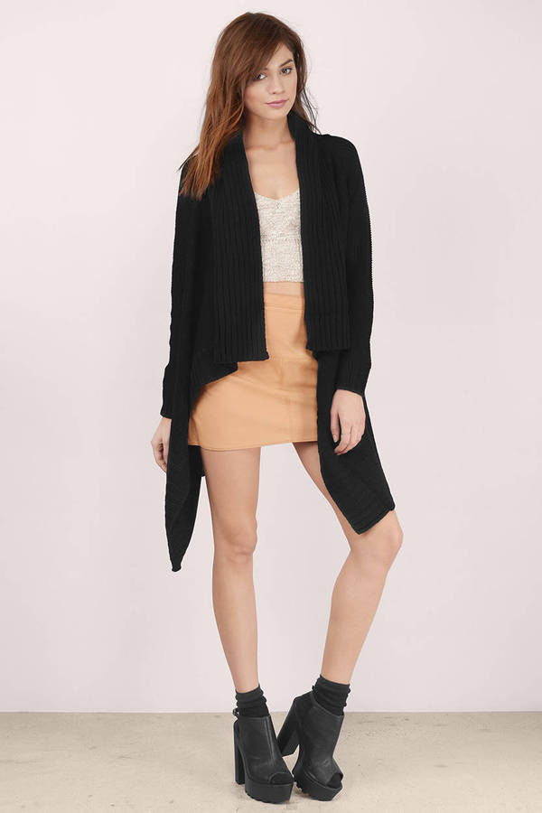 Cheap Black Cardigan - Wool Cardigan - Wrap Cardigan - Black ...