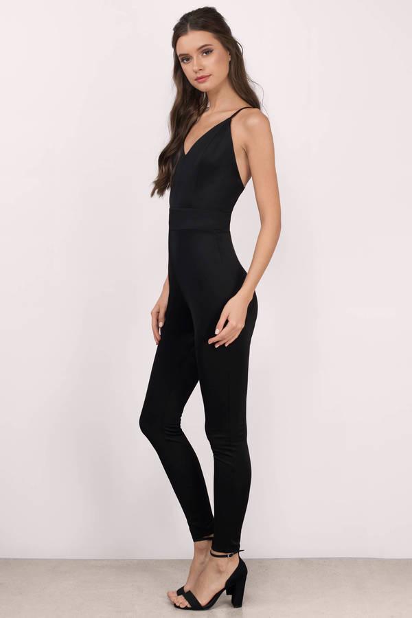 Amazing Black Jumpsuit Tight - Breeze Clothing