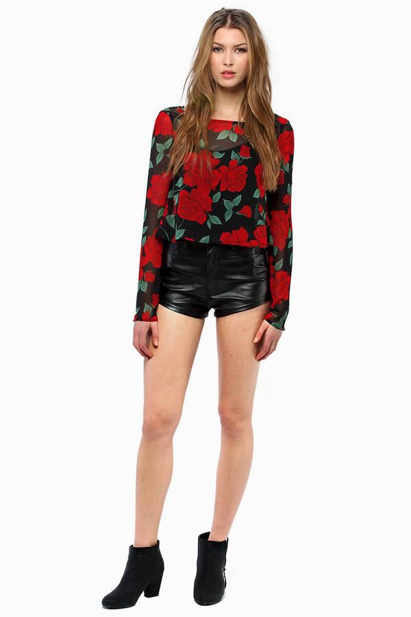 Melanie Tries Leather Shorts