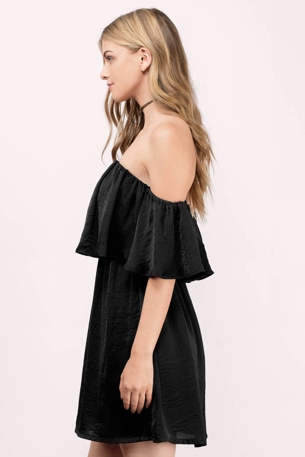 1400bee6762656 Midnight Black Chiffon Shift Dress Midnight Black Chiffon Shift Dress ...