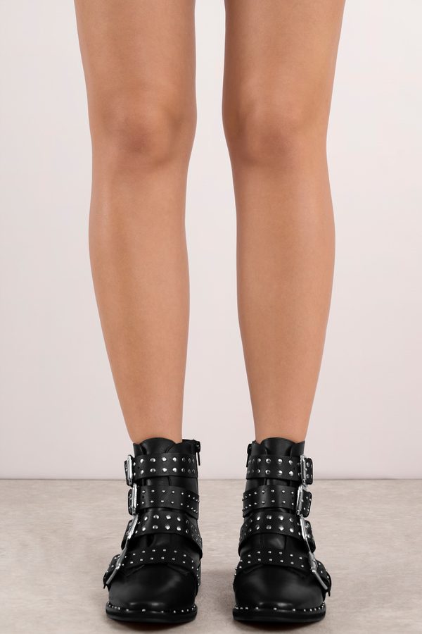 a8f9d2588f ... Lust For Life Lust For Life Miracle Leather Studded Buckle Boots ...