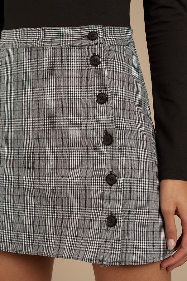 Fearless Black Multi Plaid Skirt 29 Tobi Us