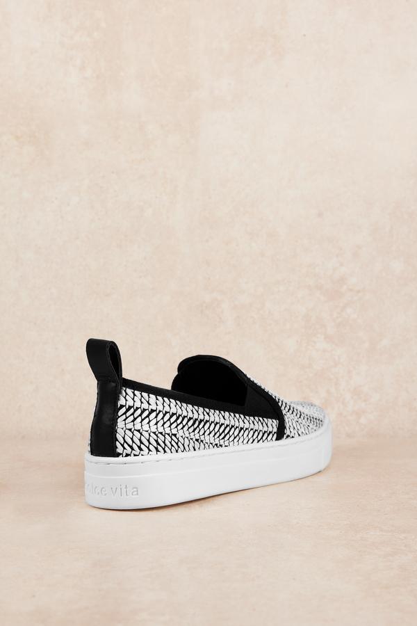 5b281e60770a Black Dolce Vita Sneakers - Patterned Slip Ons - Black Slip On Shoes ...