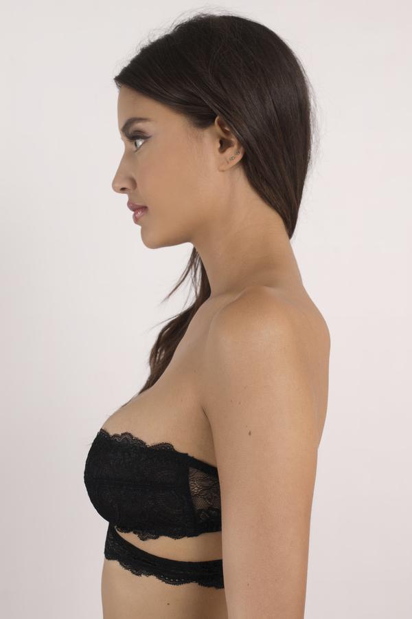 Trendy Black Bra - Black Bra - Lace Bra - $22.00