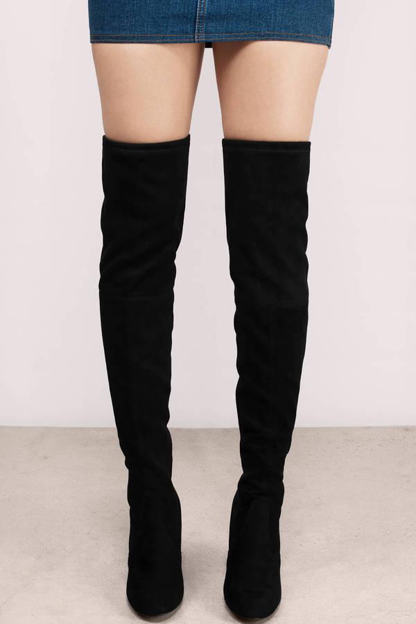 black thigh high boots steve madden