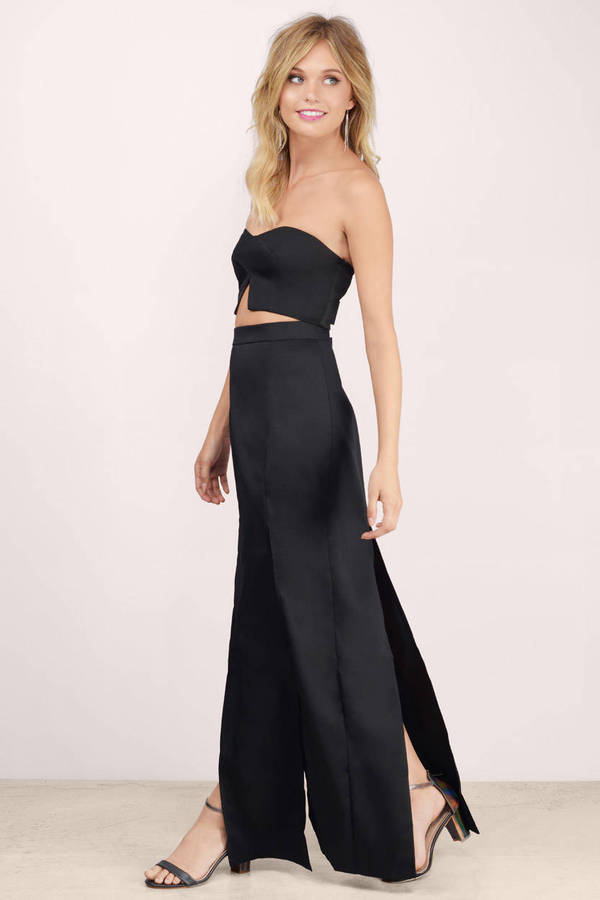 Black Maxi Dress Black Dress Two Piece Dress Black