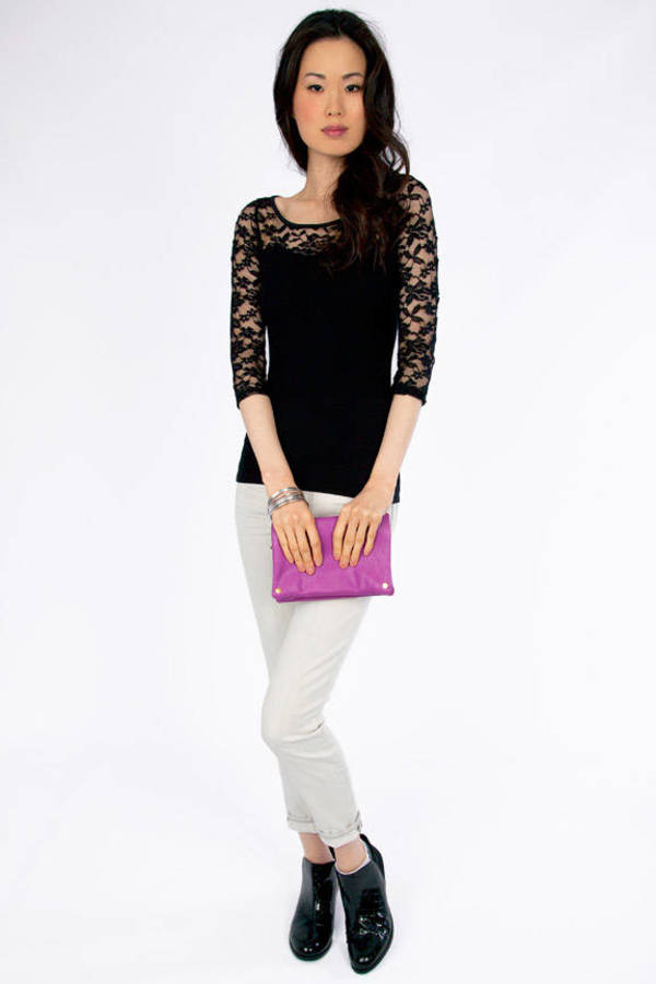 On A Whimsy Lace Top