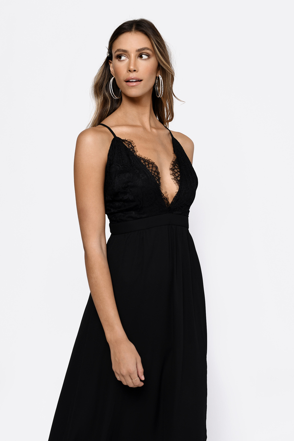 sexy black maxi dress lace dress black dress peach