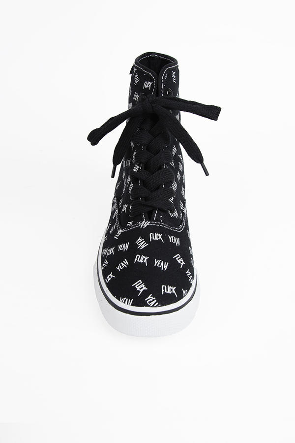 YRU Prime Hi F Yeah Sneakers