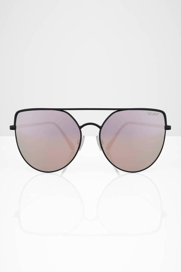 baa889aad0896 ... QUAY Quay Santa Fe Black   Red Mirrored Oversized Sunglasses ...
