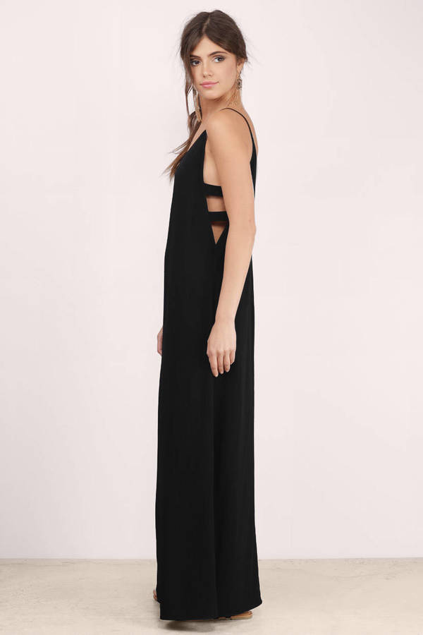 Sexy Black Maxi Dress - Black Dress - Cut Out Dress - $14.00