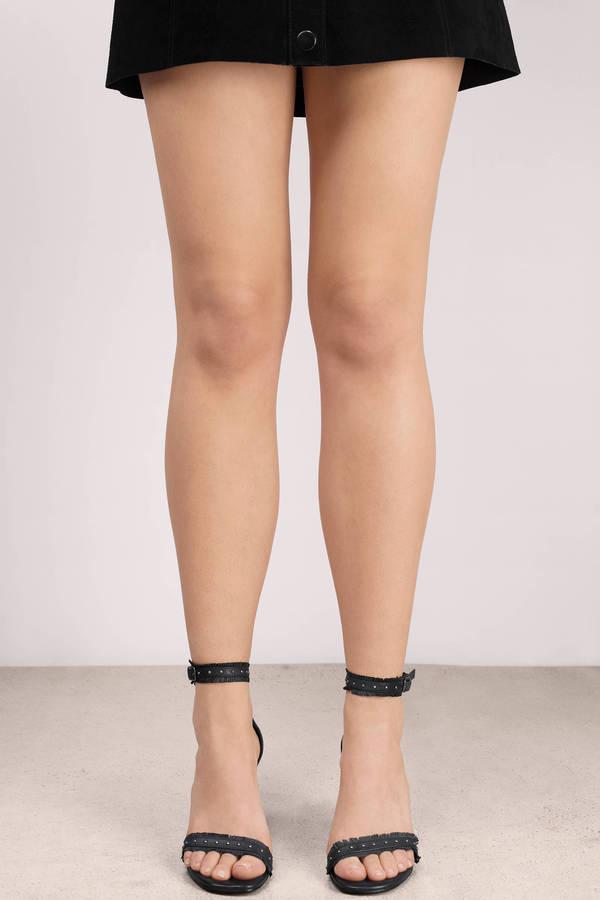 Black Heels - Black Heels - Ankle Strap Heels - $110.00