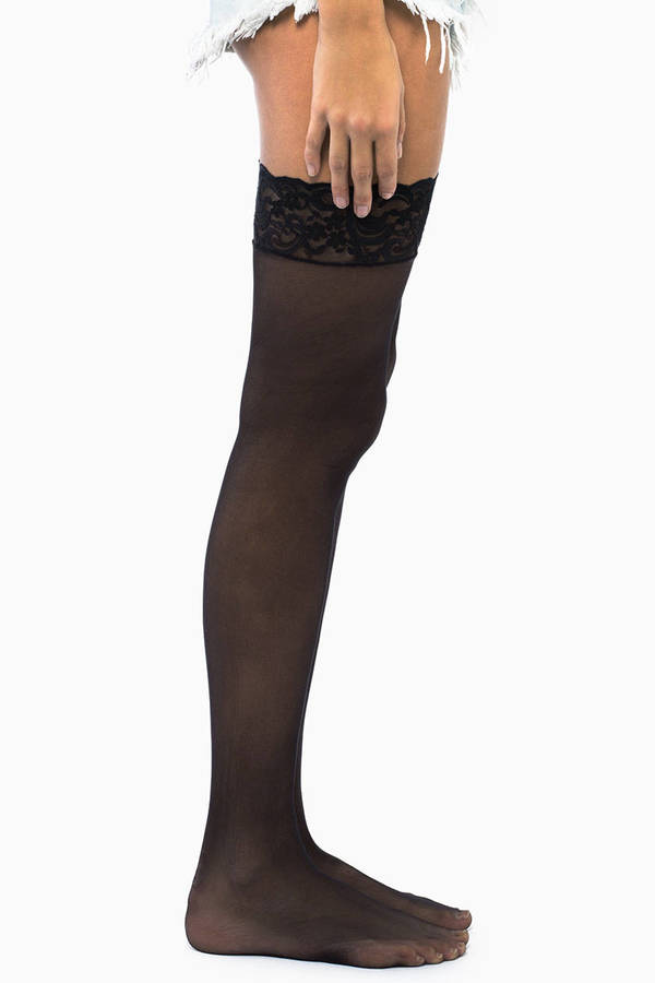 Sheer Lace Thigh Highs