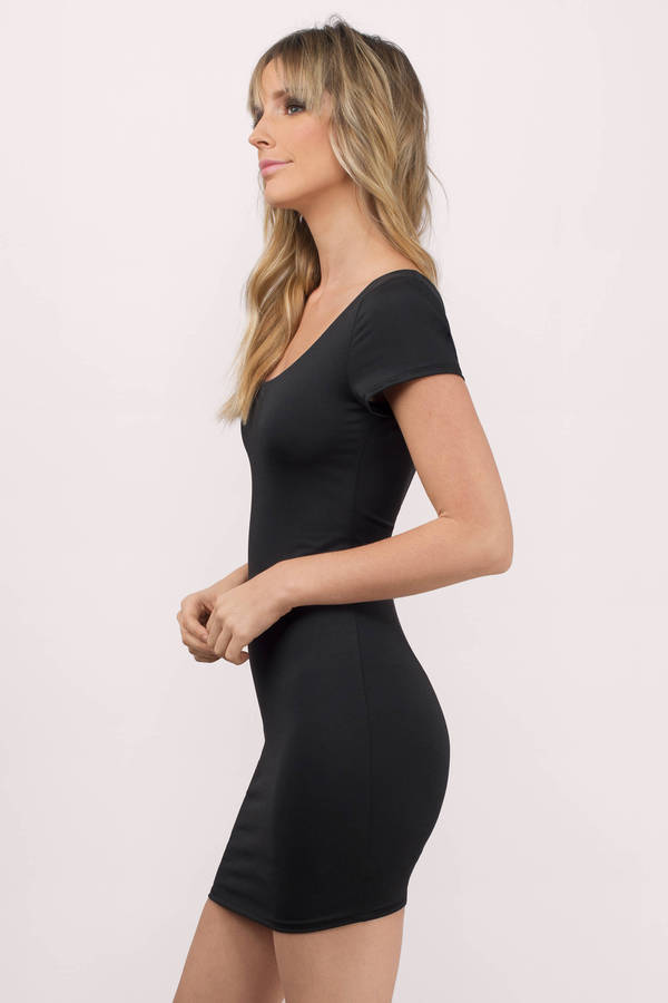 Sexy Black Bodycon Dress - Low Back Dress - Bodycon Dress - $22