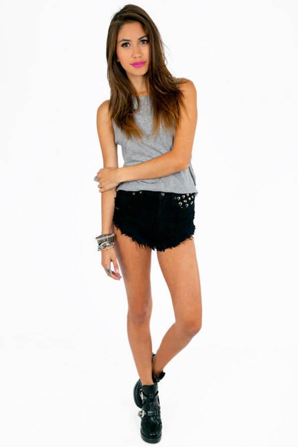 Sig Pocket Studded Shorts