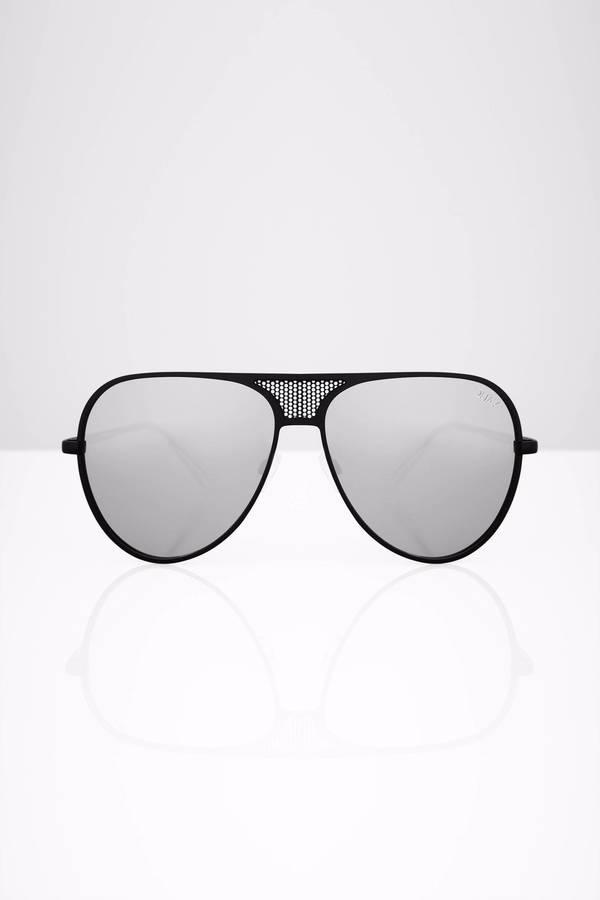 5f600229a4 ... QUAY Quay X Kylie Iconic Black Silver Sunglasses ...