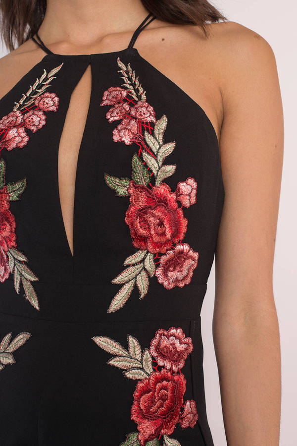 Smell The Roses Embroidered Jumpsuit