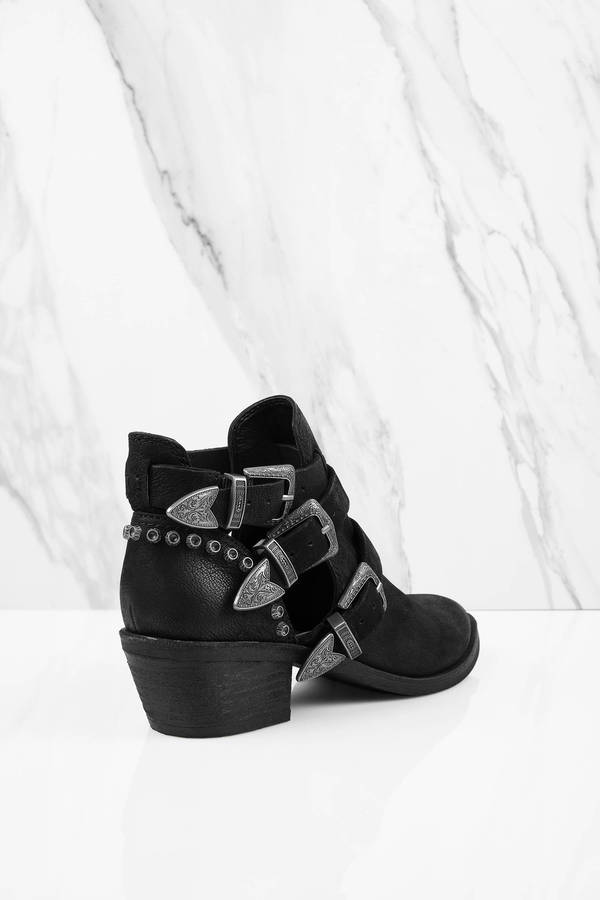 Spur Multiple Buckle Ankle Boots - $176.00 | Tobi