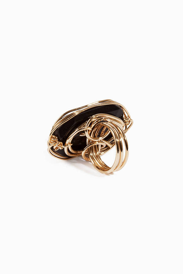 Stone Wire Rings