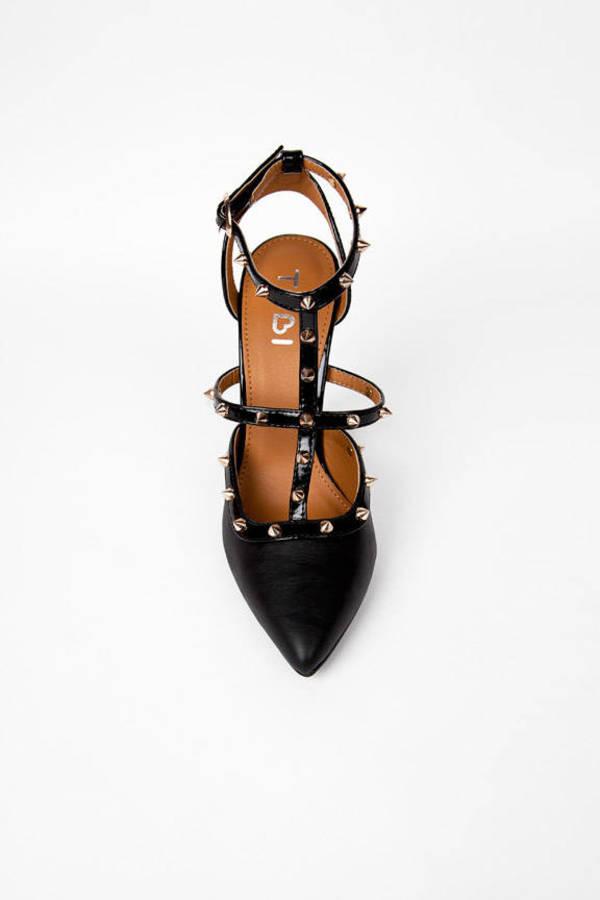 Studded Strap Heels