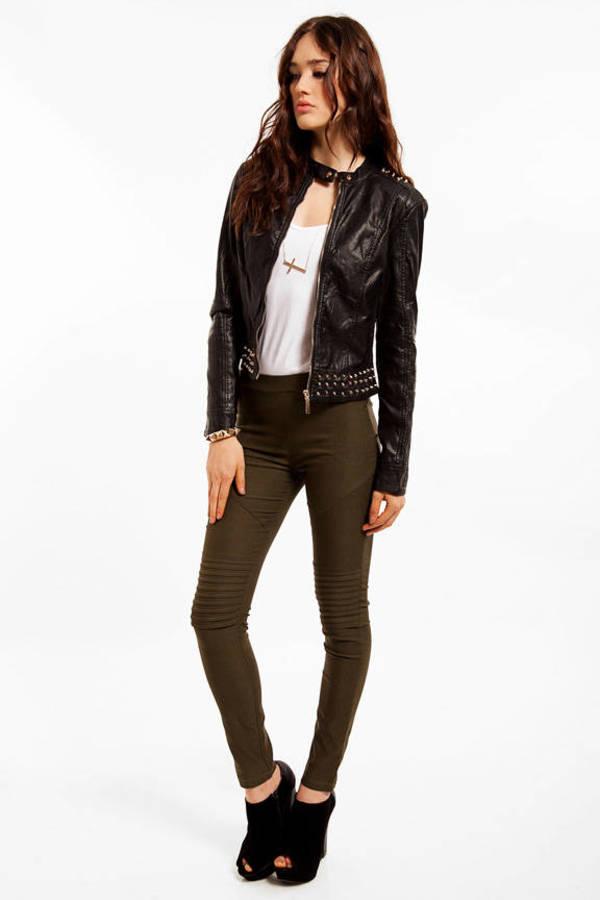 Studded Vegan Leather Jacket