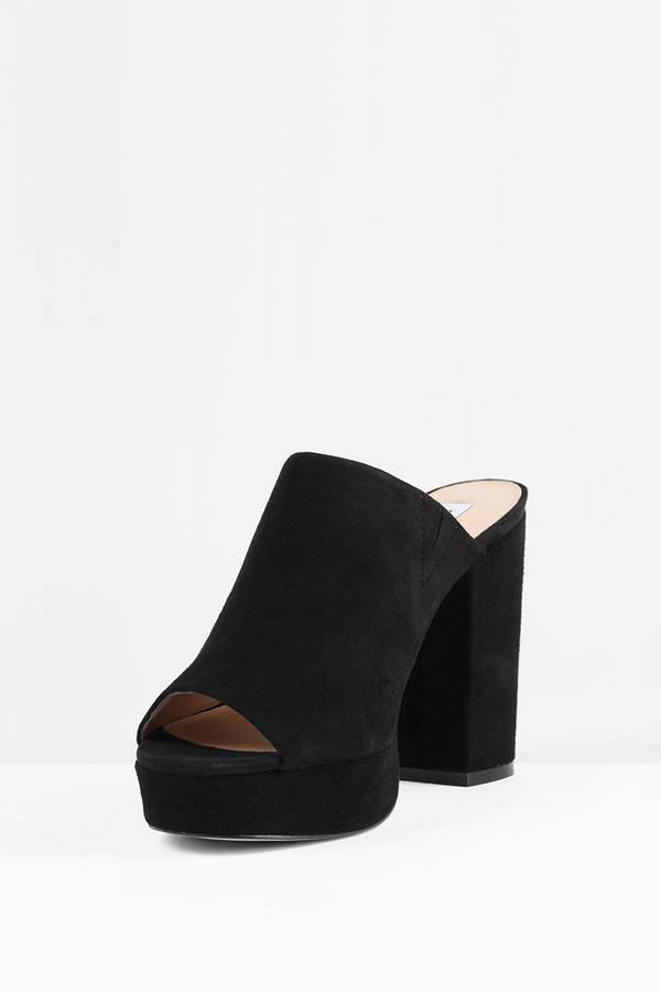 5e26b3faff7 Stonnes Peep Toe Mule Sandal