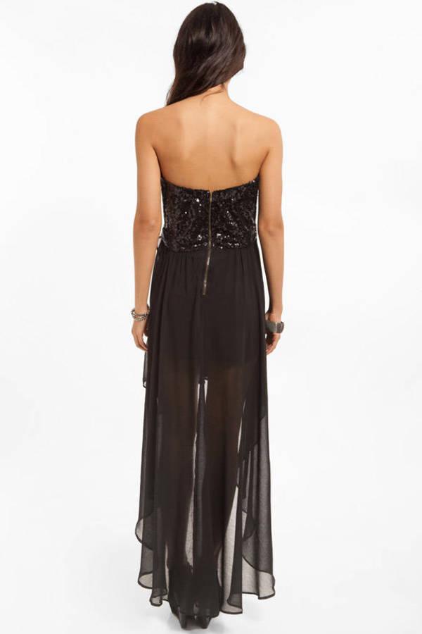 Sweetheart Sequin Corset Hi Low Dress