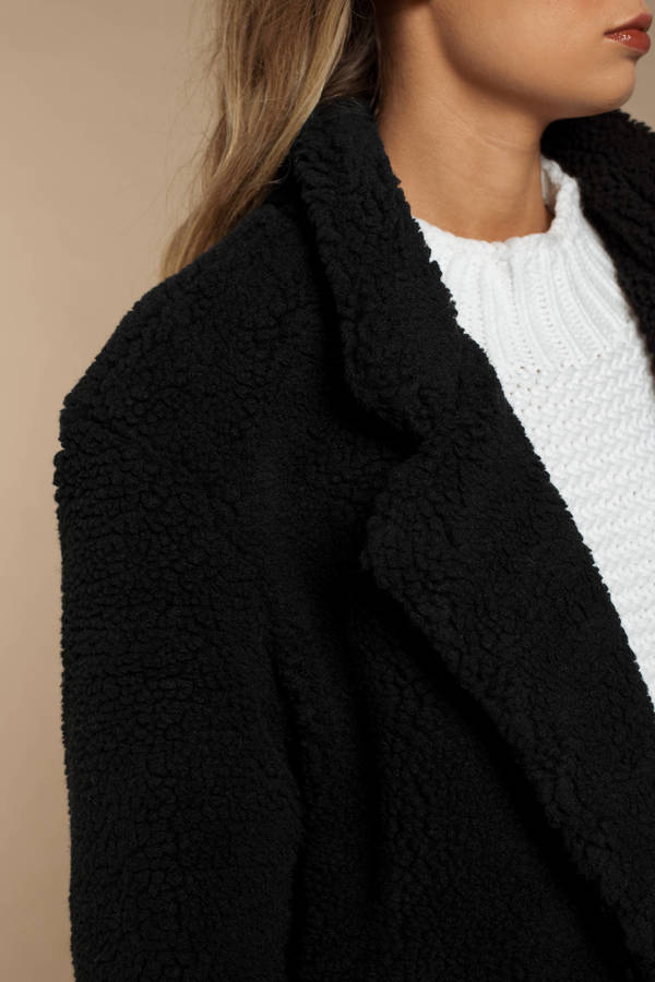 59c8d27b01c ... Tobi Faux Fur Coats, Black, Swiss Alps Long Line Teddy Coat, Tobi