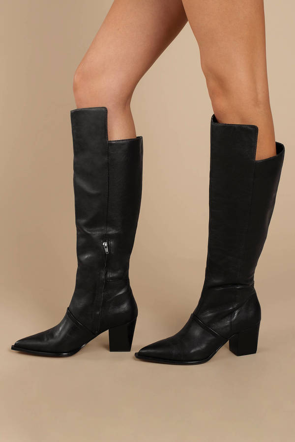 7c58e58e99 ... Lust For Life Lust For Life Tania Black Leather Knee High Boots ...