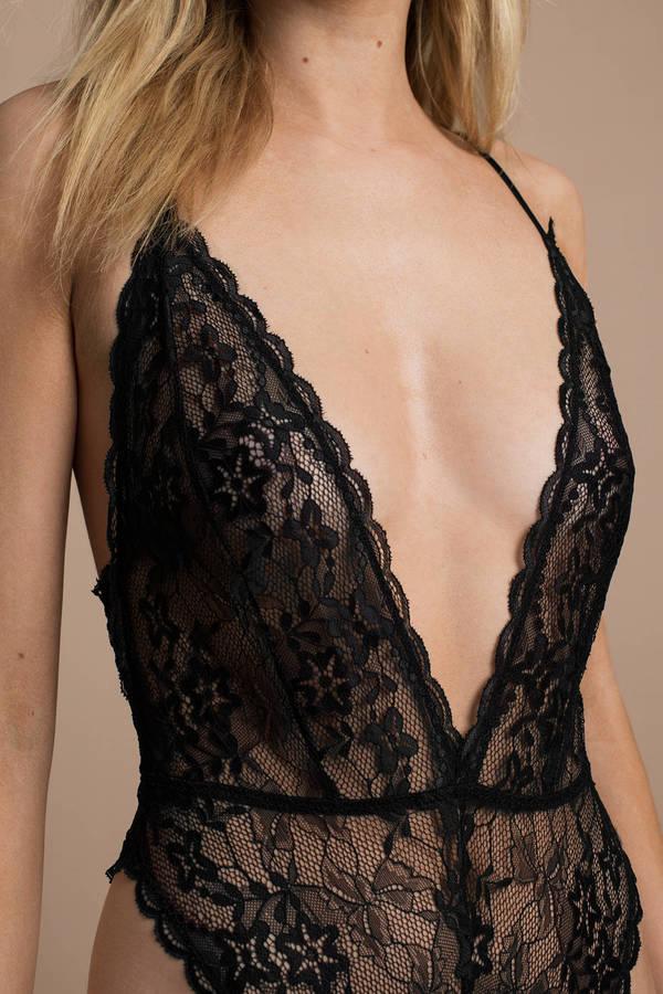 77073655d21 Through The Night Black Lace Bodysuit Through The Night Black Lace Bodysuit  ...