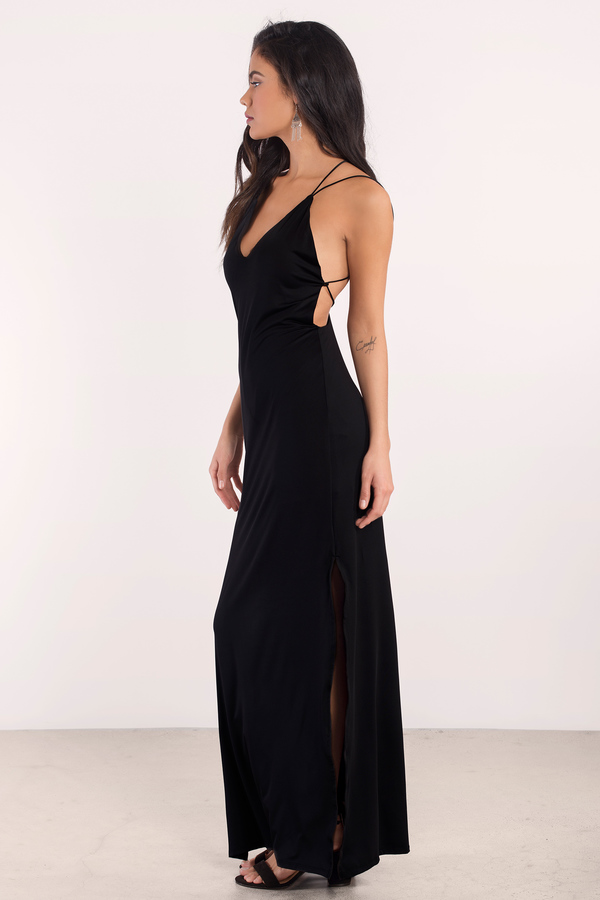 Sexy Wine Maxi Dress - Open Back Dress - Prom Dress - Maxi Dress ...