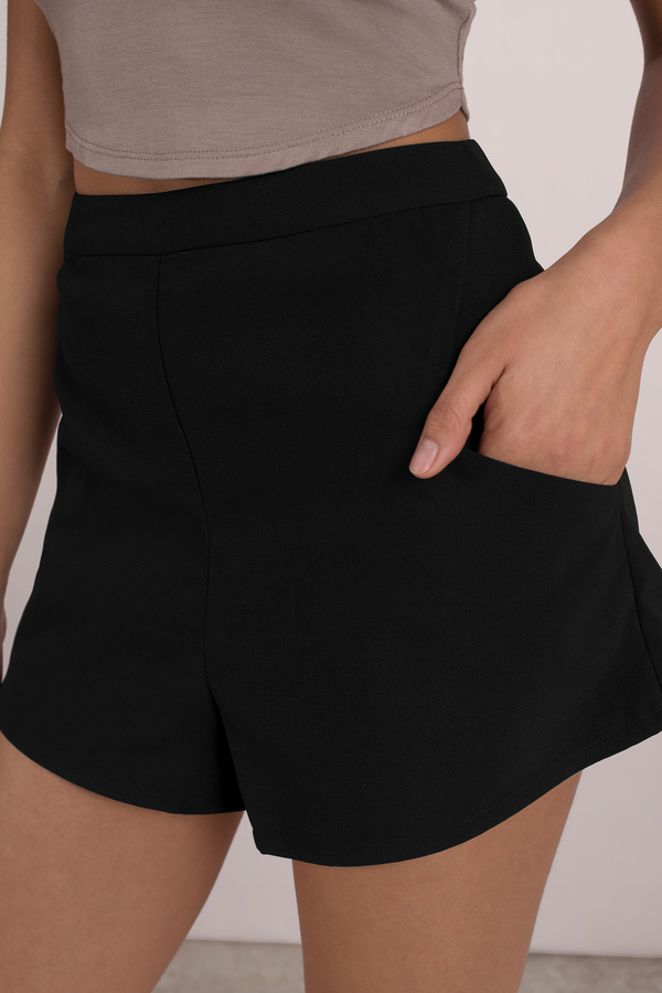 Cute Black Shorts - High Waisted Shorts - Black Shorts - $42.00