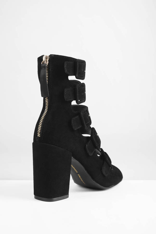 Heeled Ankle Boots | Black Boots, Cheap Boots, Fringe Boots | Tobi
