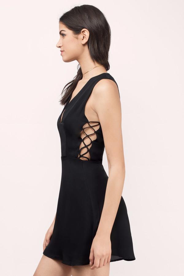 ff0a8ae58d Cheap Black Skater Dress - Black Dress - Flowy Dress - Skater Dress ...
