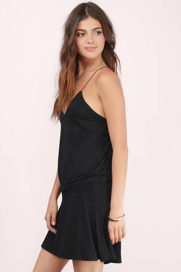 Cute Black Day Dress - Black Dress - Waist High Dress - $9.00
