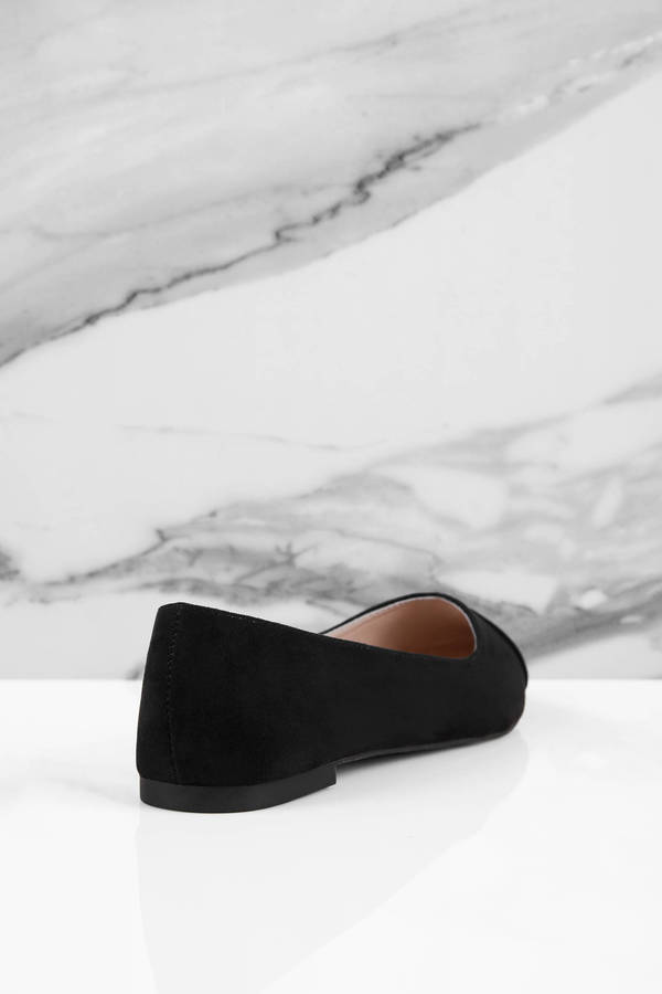 Black Flats Pointed Flats Black Recycled Plastic Shoes 24