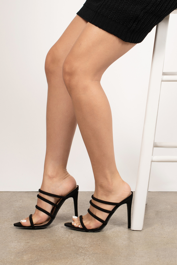 Light Blue Lace up Sandals Strappy Open Toe Suede Stiletto Heels Shoes