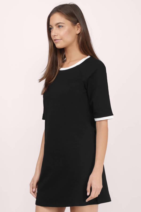 Black Amp White Dress Black Dress Color Block Dress