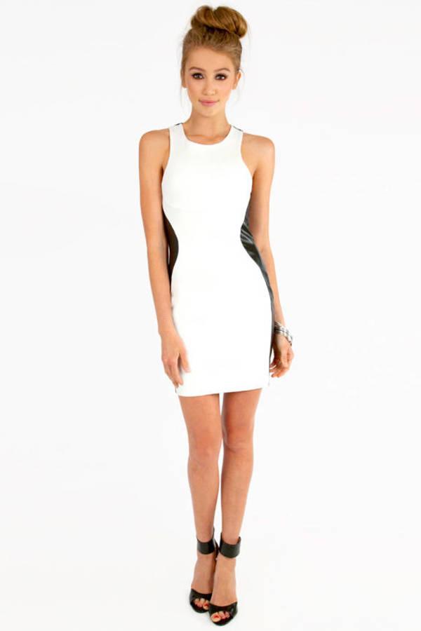 Racetrack Leather Dress