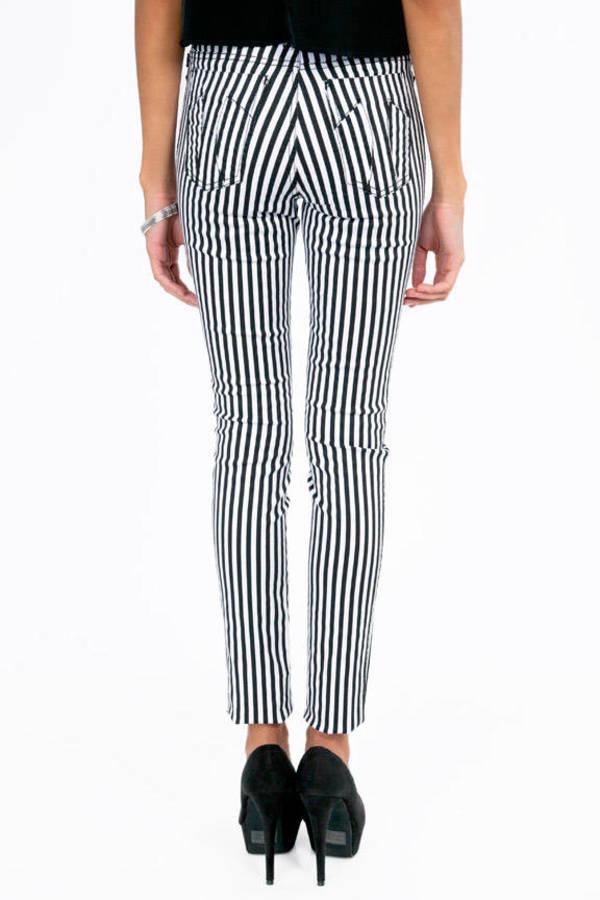 c7245c5f72a Black Tripp Nyc Pants - High Waisted Jeans - Black Striped Jeans ...