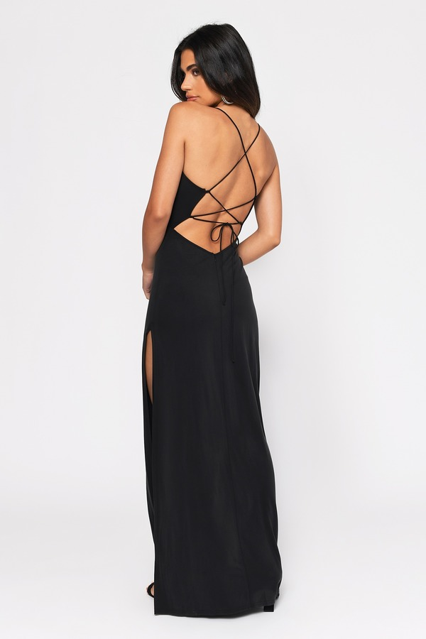 48f26dd20e Sexy Black Dress - Strappy Back - Plunging Neckline - £32